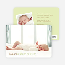 Modern Text Simply Photos Birth Announcements - Keylime Cheesecake