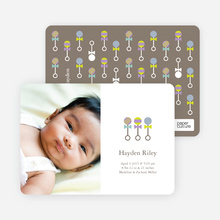 Share Rattle and Roll Birth Announcements - Jasmine