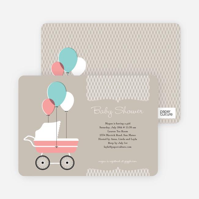 Vintage stroller baby shower invitations paper culture filmwisefo