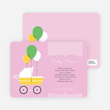 Vintage Stroller - Pink Velvet