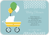 Vintage Stroller Baby Shower Invitations - Blue Bubbles