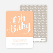 Oh Baby Pattern - Orange