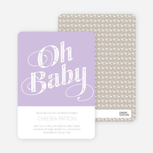 Oh Baby Pattern - Purple