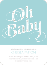 Oh Baby Pattern - Blue