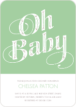 Oh Baby Pattern - Green