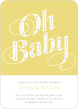 Oh Baby Pattern - Yellow