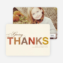 Thanksgiving Photo Cards and Thanksgiving Invitations