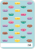 Macaron Party Invitations - Back View