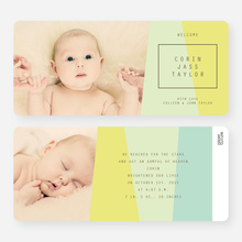 Angular Blocks Birth Announcements - Green