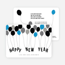 New Year Balloons - Blue