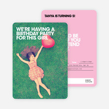 Bold Party Invites - Pink