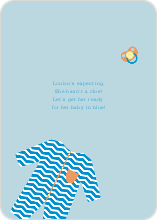 Boy Baby Onesie Baby Shower Invitations - Blue