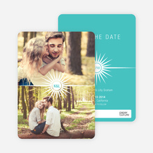Burst of Joy Save the Date Cards - Blue