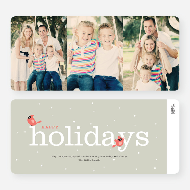 Cardinal Holiday Cards - Blue