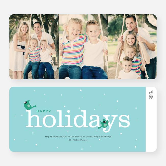 Cardinal Holiday Cards - Blue