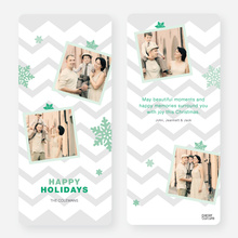 Chevron Snowflakes - Green