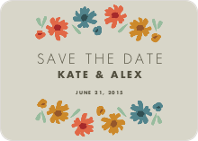 Floral Save the Dates - Gray