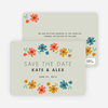 Chic Floral Save the Date Cards - Gray