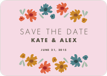 Floral Save the Dates - Pink