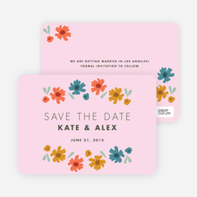 Chic Floral Save the Date Cards - Pink