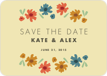Floral Save the Dates - Yellow