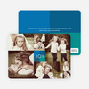 Collage of Joy Multi–Photo Holiday Cards - Blue