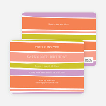 Color Stripes Invites - Multi