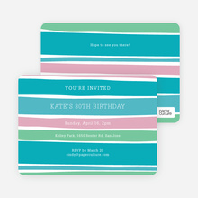 Color Stripes Invites - Blue