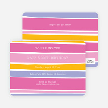 Color Stripes Invites - Pink
