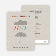 Colorful Shower Baby Shower Invitations - Gray