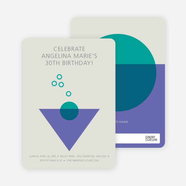 Cosmo Party Invitations - Purple