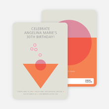Cosmo Party Invitations - Orange
