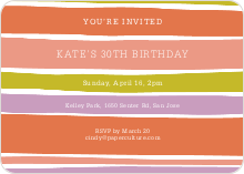 Color Stripe Party Invitations - Multi