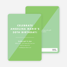 Duotone Party Invitations - Green