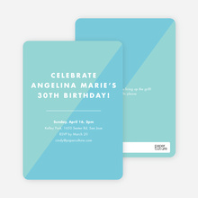 Duotone Party Invitations - Blue