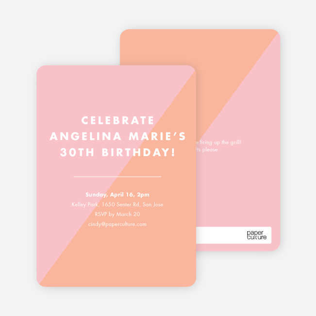 Duotone Party Invitations - Pink