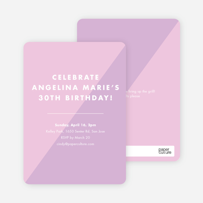 Duotone Party Invitations - Purple