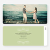 Flourish Save the Date Cards - Green