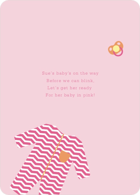 Girl Baby Onesie Baby Shower Invitations - Pink