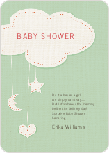 Handcrafted Mobile Baby Shower Invitations - Green