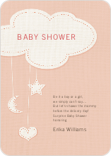 Handcrafted Mobile Baby Shower Invitations - Orange