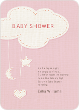 Handcrafted Mobile Baby Shower Invitations - Pink