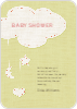 Handcrafted Mobile Baby Shower Invitations - Yellow