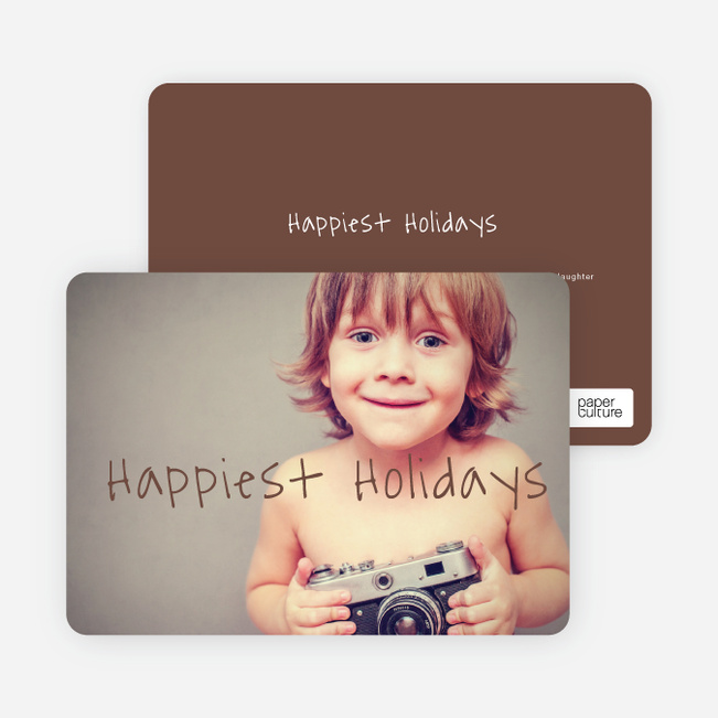Happiest Holidays Cards - Brown