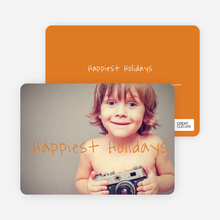 Happiest Holidays - Orange