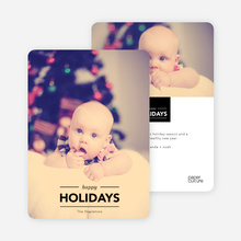 Happy Holidays Banner - Black