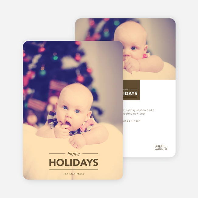 Happy Holidays Cards: Banner - Brown