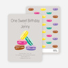 Macaron Party Invitations - Purple