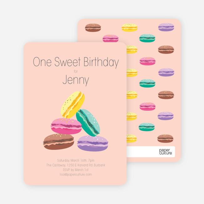 Macaron Party Invitations - Orange