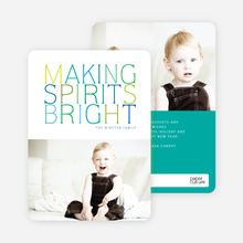 Holiday Cards: Making Spirits Bright - Green